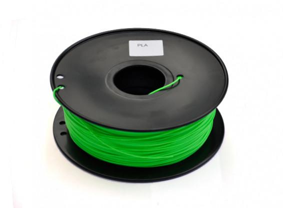 HobbyKing 3D Filament Printer 1,75 milímetros PLA 1KG Spool (verde claro)
