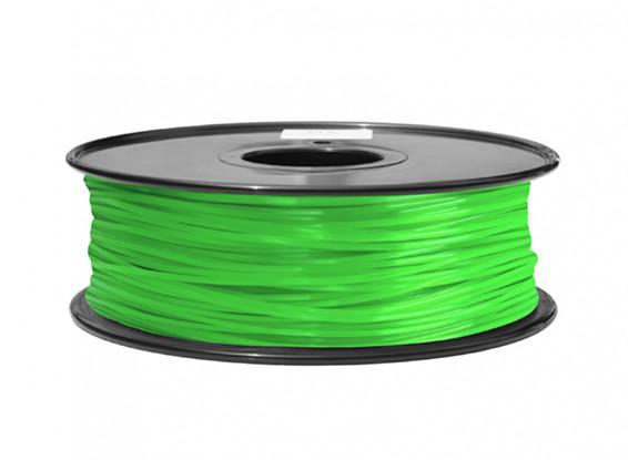 HobbyKing 3D Filament Printer 1,75 milímetros ABS 1KG Spool (verde)