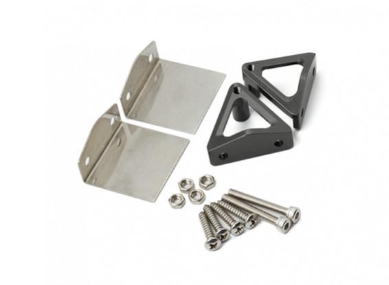 HydroPro Inception Corrida de Barco - CNC liga de alumínio guarnição Tab Mount Set w / trim tabs