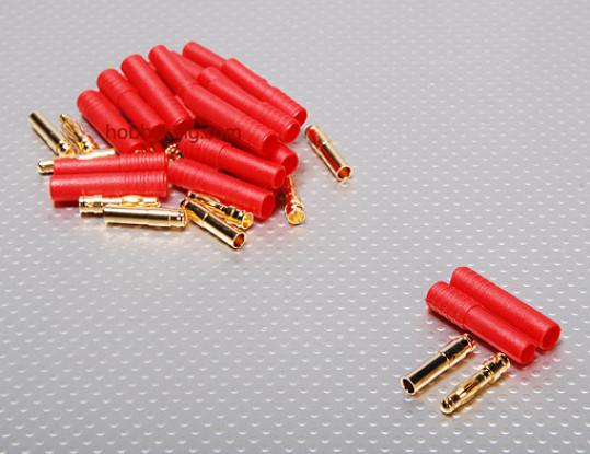 HXT 4 milímetros de Ouro Connector w / Protector (10pcs / set)