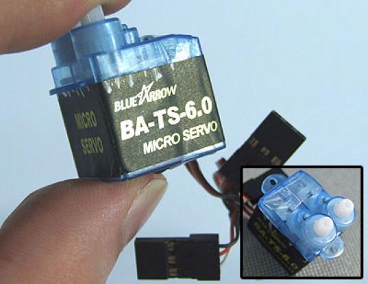 Arrow 6,0 g / 0,4 kg x 2 / 12sec dupla cabeça Micro Serv