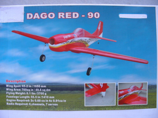 LIQUIDAÇÃO - Hobbyking Dago Red 90 ARF (AUS Warehouse)
