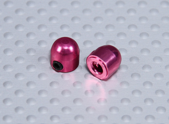 2,1 milímetros Collar Dome roda de alumínio (2pcs)