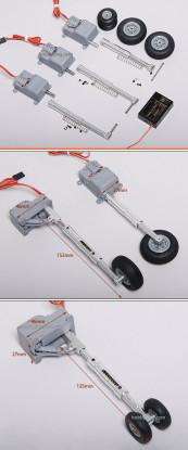Servoless Digital Landing ajustável conjunto de engrenagens