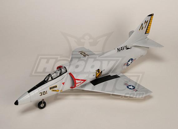 A4 Skyhawk lutador R / C EDF Jet Plug-n-Fly