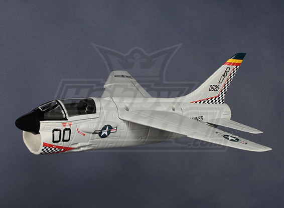 Mini F-8 Crusader EDF Jet Fighter EPO (PNF)