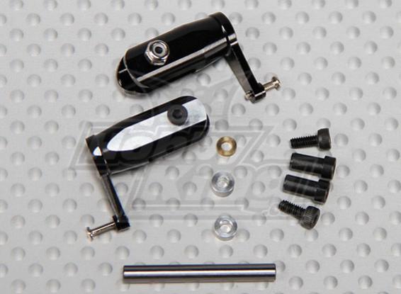 Gaui 100 & 200 Tamanho CNC principal Grips-set preto anodizado (203645)