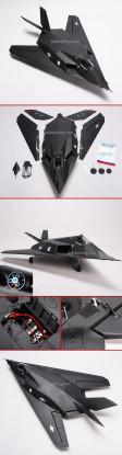 F-117 Avião de combate w / Brushless EDF RTF