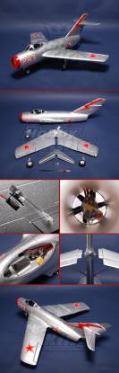 MIG-15 lutador R / C Ducted Fan Jet Plug-n-Fly