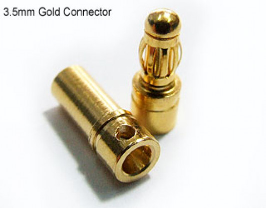 Polymax 3,5 milímetros de ouro Conectores de 10 pares (20pc)