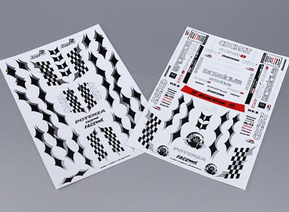 Folha de Auto-adesivo Decal - Prodrive 1/10 Scale (2pc)