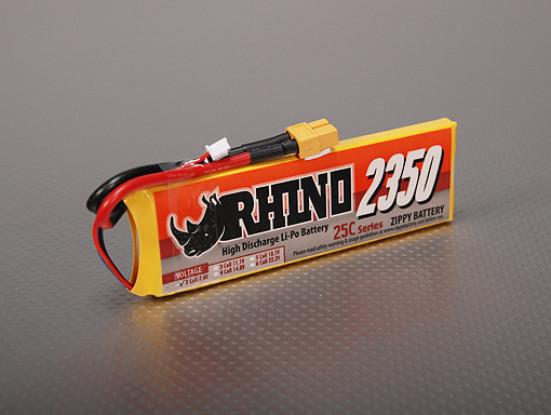Rhino 2350mAh 2S1P 25C Lipoly pacote
