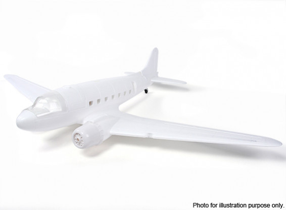 RISCO / DENT - HobbyKing ™ C-47 / DC-3 EPO Branco 1600 milímetros (Kit)