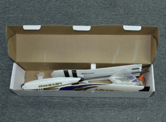 RISCO / DENT - HobbyKing Mini Breeze Glider EPO 900 milímetros w / Motor (ARF)