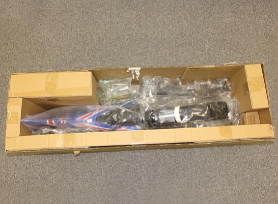 RISCO / DENT - HobbyKing Bae Falcão 90 milímetros EDF Jet Composite 1.140 milímetros (Black) (ARF)