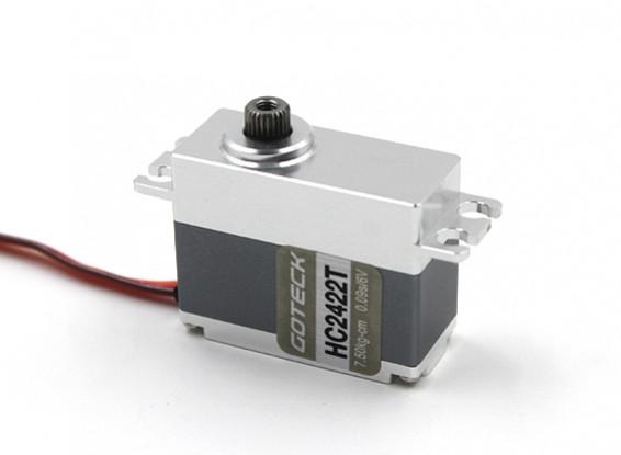 RISCO / DENT - Goteck HC2422T HV Digital MG metal Cased Car Servo 35g / 8,5 kg / 0.08sec