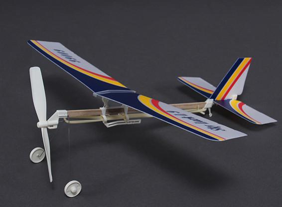 Skylark L-9 Rubber Alimentado Freeflight Modelo 2 em 1 Monoplane ou Bi-plane