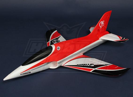 Stinger 64 EDF Desporto Jet 700 milímetros Red EPO (ARF)