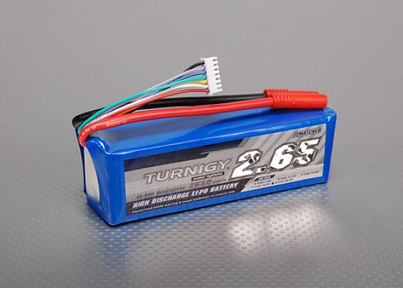 Turnigy 2650mAh 6S 40C Lipo pacote