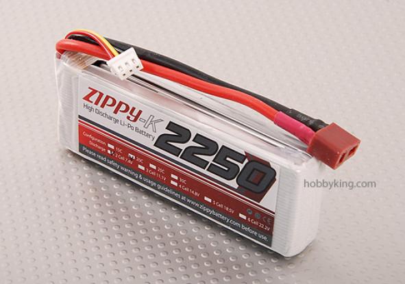 Zippy-K 2,250 pacote 2S1P 20C Lipo