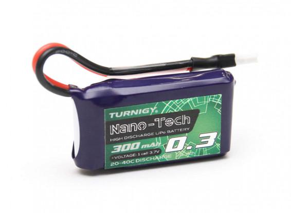 Turnigy-nano-tech-300mAh-1S-20-40C-Lipo-Pack-Los- Mini-Compatible-9067000532-0