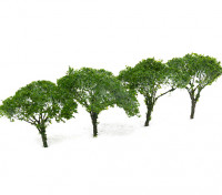 HobbyKing™ 65mm Dark Green Scenic Wire Model Trees (4 pcs)