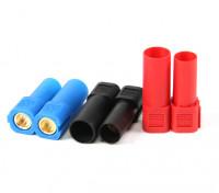 XT150 Conectores w / 6mm ouro Conectores - vermelho, azul e preto (5pairs / saco)