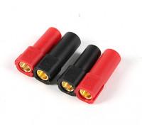 XT150 Conectores w / 6mm ouro Conectores - Vermelho & preto (5pairs / saco)