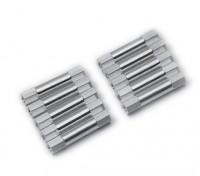 Leve de alumínio redonda Seção Spacer M3x26mm (prata) (10pcs)