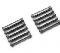 Leve de alumínio redonda Seção Spacer M3x26mm (Titanium) (10pcs)
