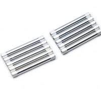 Leve de alumínio redonda Seção Spacer M3x45mm (prata) (10pcs)