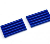 Leve de alumínio redonda Seção Spacer M3x45mm (azul) (10pcs)