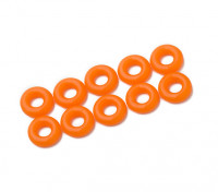 O-ring Kit 3mm (Neon Laranja) (10pcs / saco)
