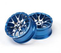 1/10 alumínio tração da roda 7Y raios (azul)