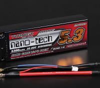 Turnigy nano-tecnologia 5300mAh 2S2P 30 ~ 60C Hardcase Lipo Pack (ROAR aprovado)