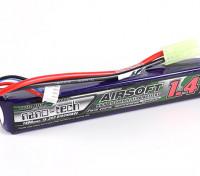 Turnigy nano-tecnologia 1400mAh 3S 15 ~ 25C Lipo AIRSOFT pacote
