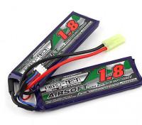 Turnigy nano-tecnologia 1800mAh 2S 20 ~ 40C Lipo AIRSOFT pacote