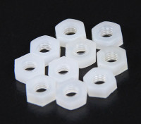 M3 Nylon Nut (10pcs / saco)