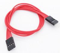 250 milímetros de 4 pinos cabo de extensão de LED RGB Multi-Function driver / controlador