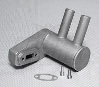 Pitts silencioso para 30cc ~ motor de 33cc Gas