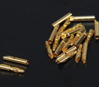 2mm ouro Conectores de 10 pares (20pc)
