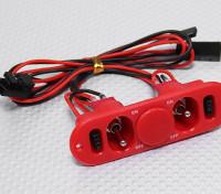 Pesado Chave Dever RX Twin com carga Porto & Fuel Red Dot