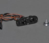 RX interruptor com carga / Tensão Verifique Porto e Fuel Filler