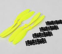 8045 SF Props 2pc CW 2 pc rotação CCW (Flouro Amarelo)