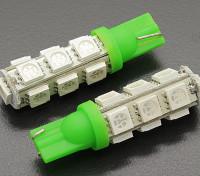 LED milho luz 12V 2.6W (13 LED) - Green (2pcs)