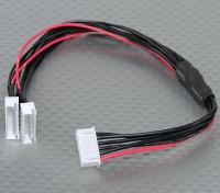 JST-XH Parallel chumbo Balance 5S 250 milímetros (2xJST-XH)