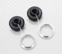 Lower Choque Holder & Ajuste Ring - 1/10 Quanum Vandal 4WD Corrida Buggy (2sets)
