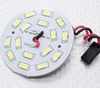 Branco 16 LED Board Luz circular com chumbo