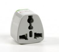 HobbyKing TXW001 Fused 13 Amp Corrente eléctrica multi Adapter-Grey (os EUA)