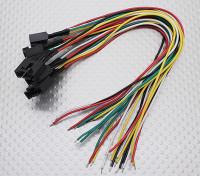 Molex 5 pinos cabo conector fêmea com 230 milímetros x 26AWG Wire (5pc)